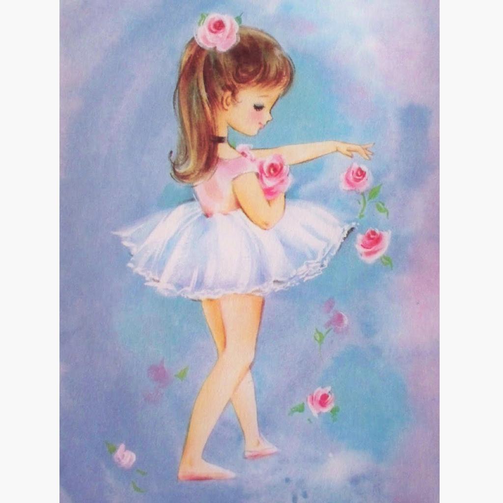 Нарисованная картинка девочки балерины